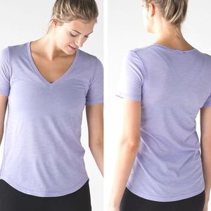 Lululemon What The Sport Heathered Lilac Tee